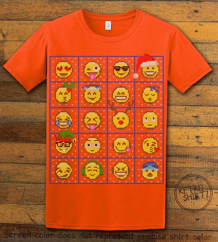 Emoji Graphic T-Shirt - orange shirt design