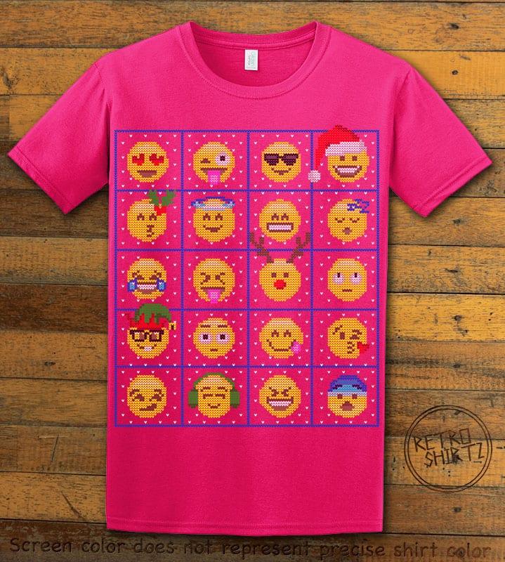 Emoji Graphic T-Shirt - pink shirt design