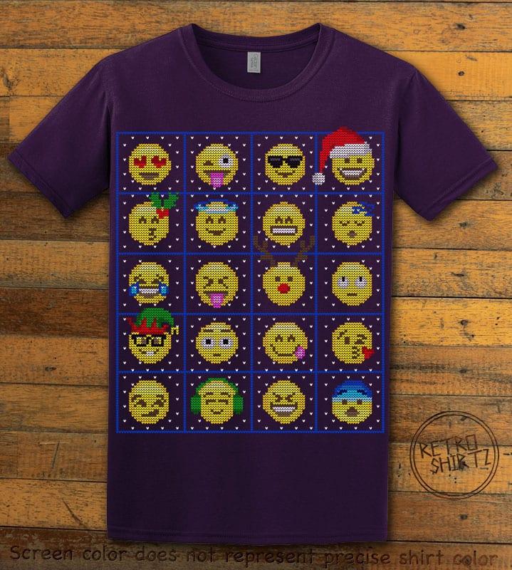 Emoji Graphic T-Shirt - purple shirt design
