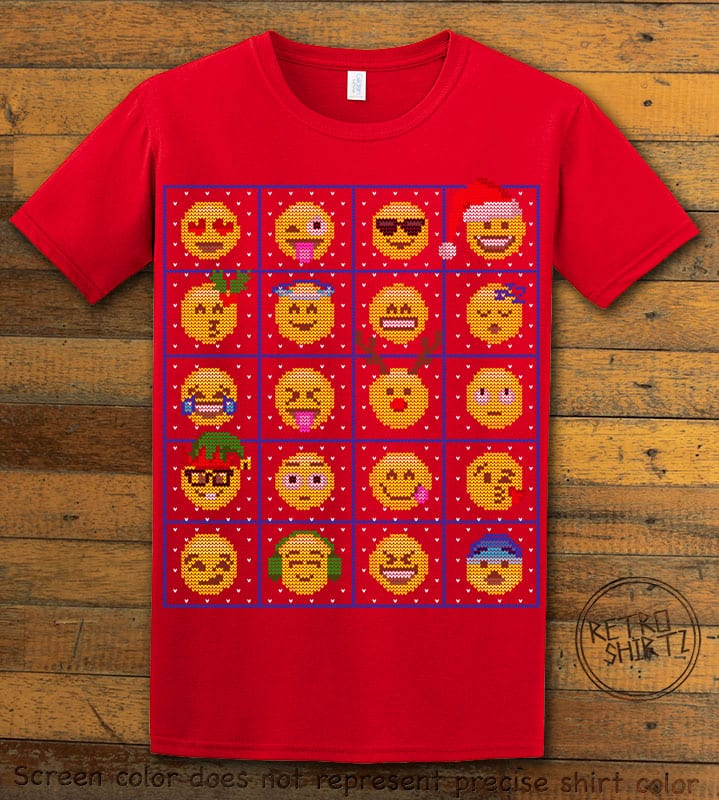 Emoji Graphic T-Shirt - red shirt design