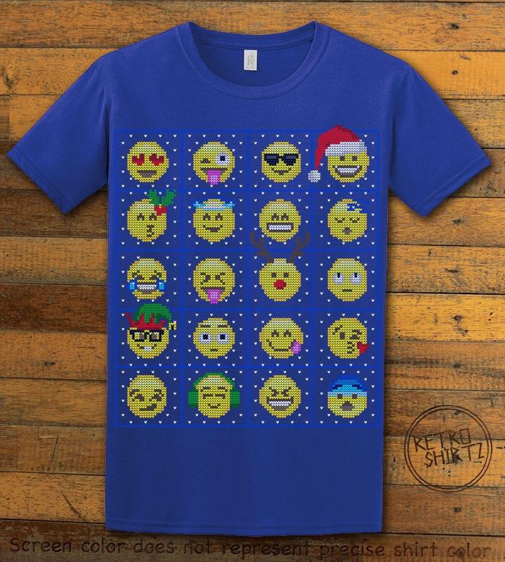 Emoji Graphic T-Shirt - royal shirt design