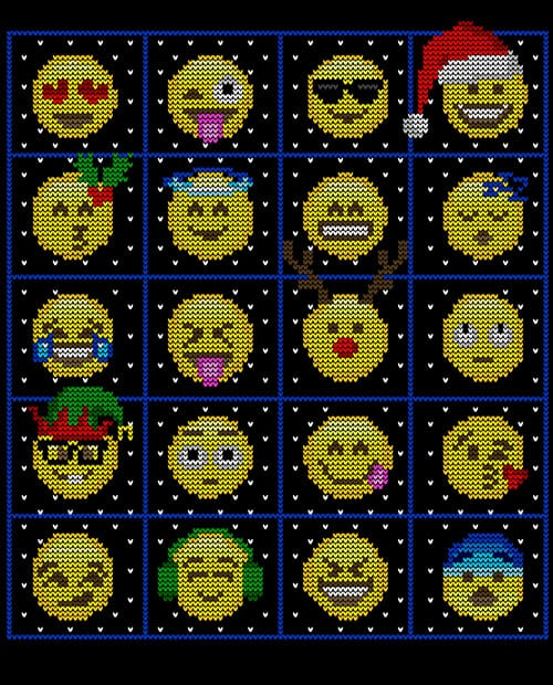 Emoji Graphic T-Shirt main vector design