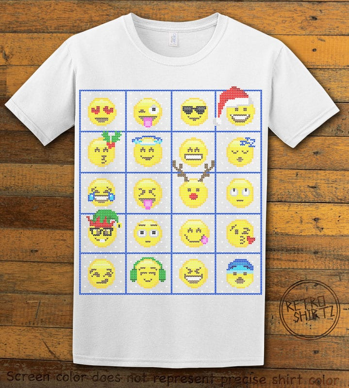Emoji Graphic T-Shirt - white shirt design