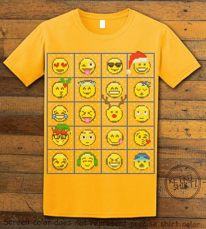 Emoji Graphic T-Shirt - yellow shirt design