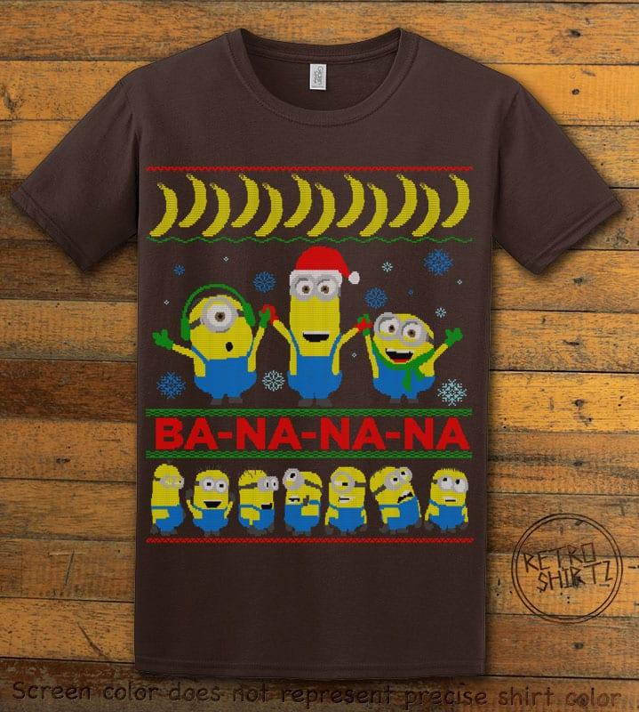 Ba - Na - Na - Na Graphic T-Shirt - brown shirt design