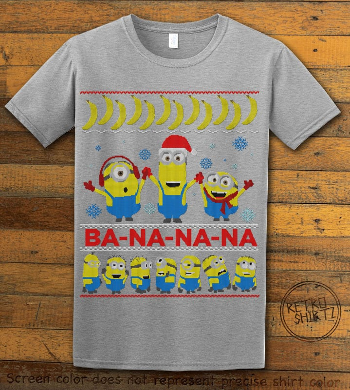 Ba - Na - Na - Na Graphic T-Shirt - grey shirt design