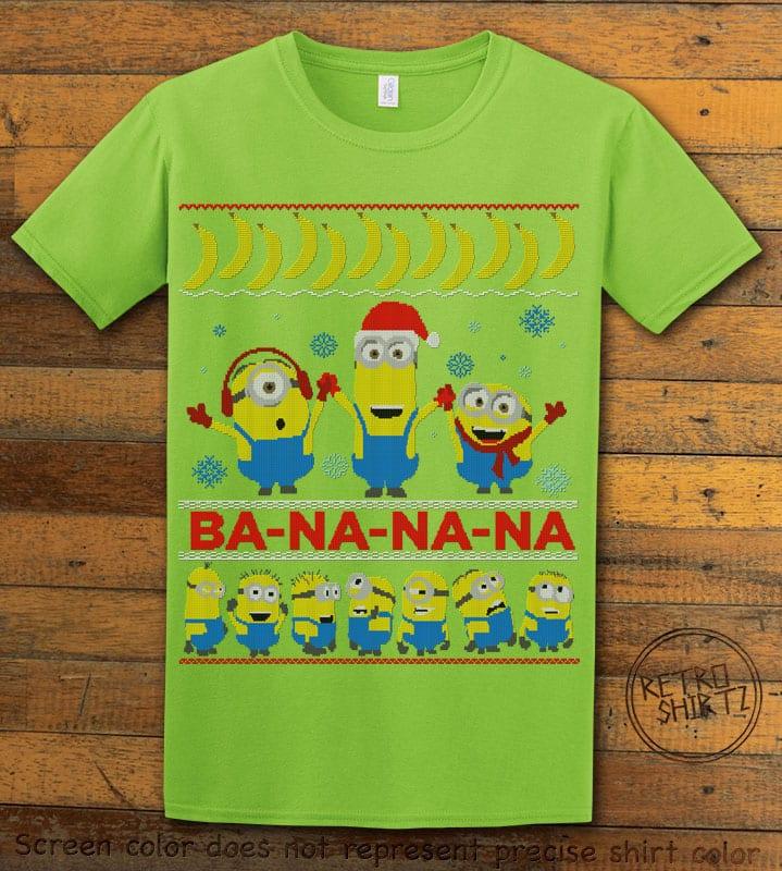 Ba - Na - Na - Na Graphic T-Shirt - lime shirt design
