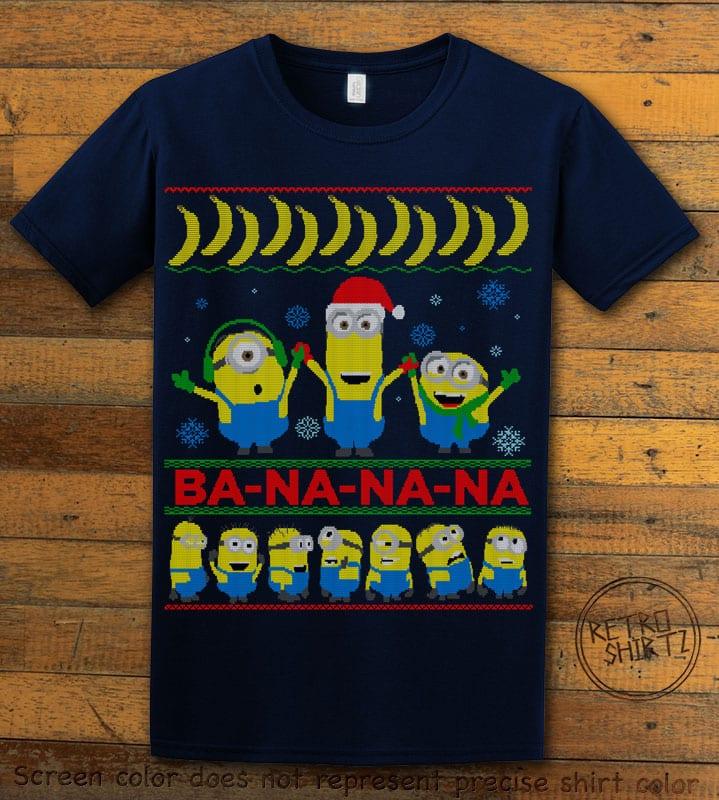 Ba - Na - Na - Na Graphic T-Shirt - navy shirt design