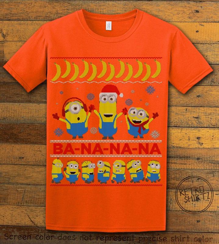 Ba - Na - Na - Na Graphic T-Shirt - orange shirt design