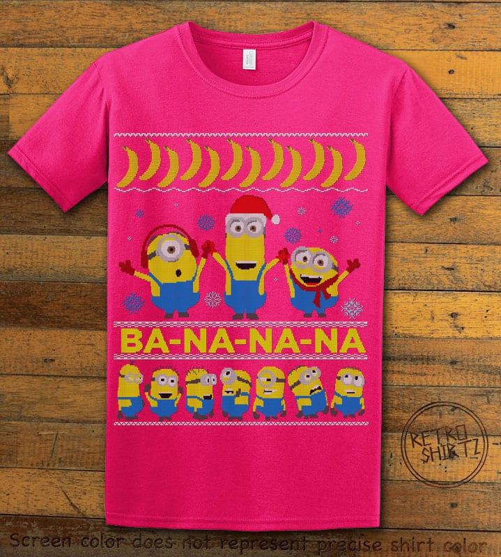 Ba - Na - Na - Na Graphic T-Shirt - pink shirt design