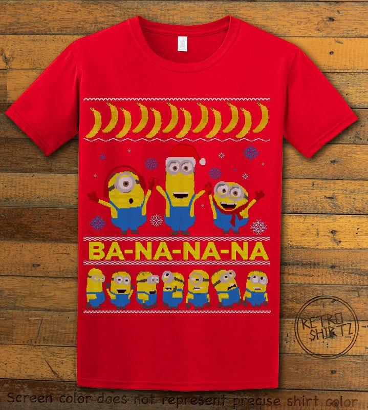 Ba - Na - Na - Na Graphic T-Shirt - red shirt design