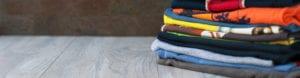 folded tshirts