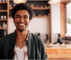 smiling millennial