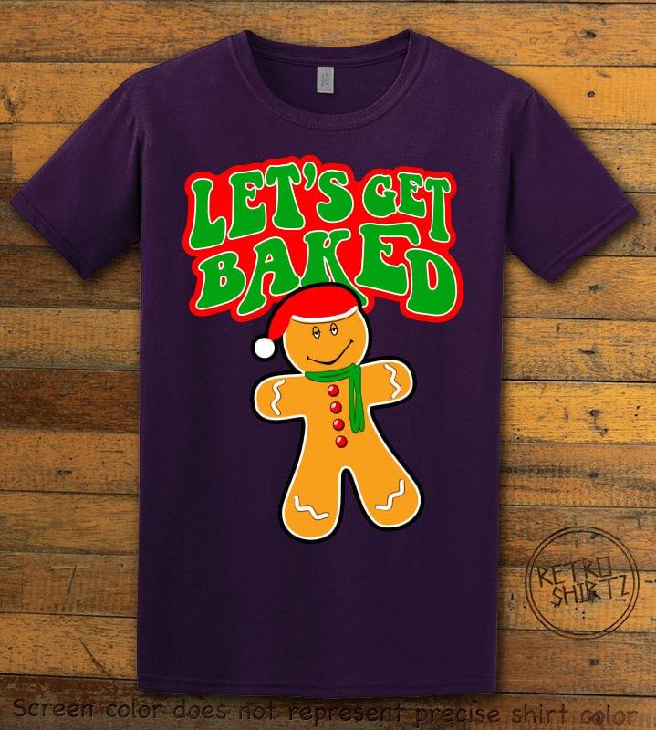 Let's Get Baked Graphic T-Shirt - purple shirt design