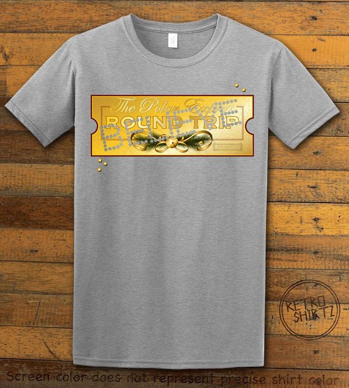 The Polar Express Believe Ticket Graphic T-Shirt - grey shirt design