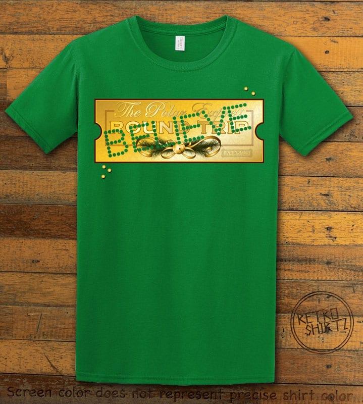 The Polar Express Believe Ticket Graphic T-Shirt - green shirt design