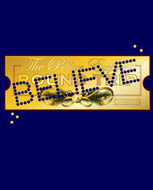 The Polar Express Believe Ticket Graphic T-Shirt main vector