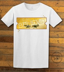 The Polar Express Believe Ticket Graphic T-Shirt - white shirt design