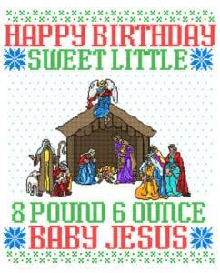Happy Birthday Sweet Little Baby Jesus Christmas Graphic T-Shirt main vector design