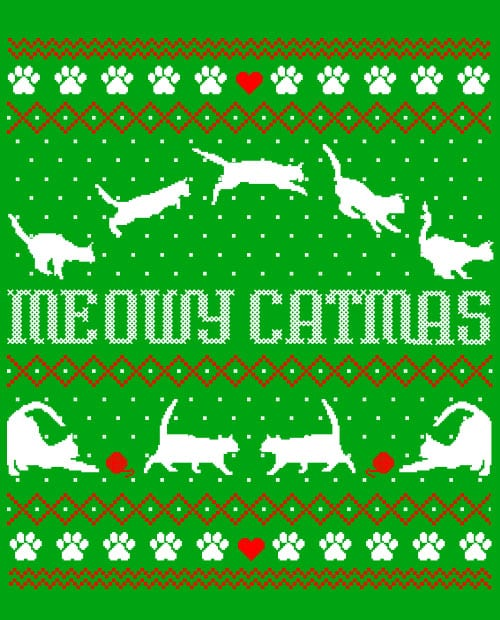 Meowy Christmas Graphic T-Shirt main vector design