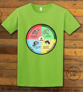Elf Food Groups Graphic T-Shirt - lime shirt design