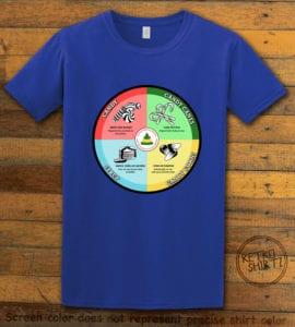 Elf Food Groups Graphic T-Shirt - royal shirt design