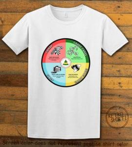 Elf Food Groups Graphic T-Shirt - white shirt design