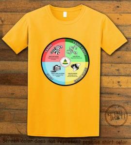 Elf Food Groups Graphic T-Shirt - yellow shirt design