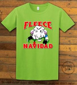 Fleece Navidad Graphic T-Shirt - lime shirt design