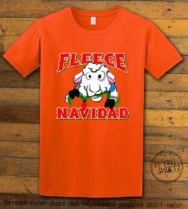 Fleece Navidad Graphic T-Shirt - orange shirt design