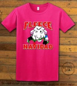 Fleece Navidad Graphic T-Shirt - pink shirt design