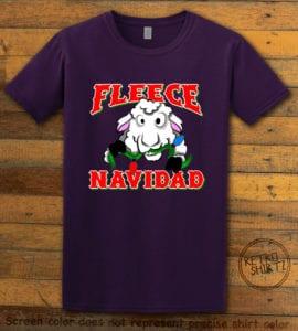 Fleece Navidad Graphic T-Shirt - purple shirt design