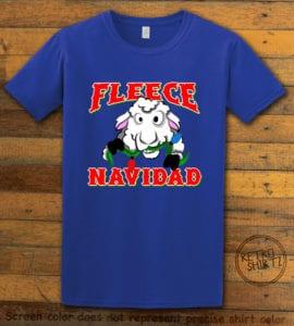 Fleece Navidad Graphic T-Shirt - royal shirt design