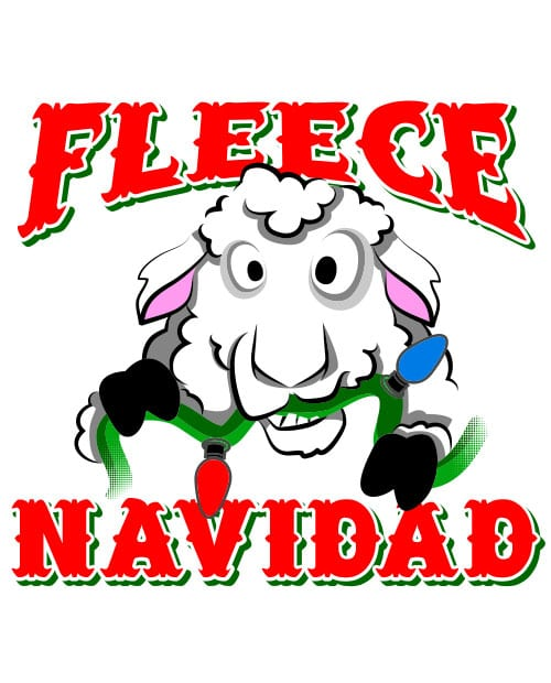 Fleece Navidad Graphic T-Shirt - main vector design