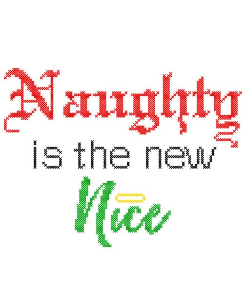 Naughty is the New Nice Graphic T-Shirt - main vector design