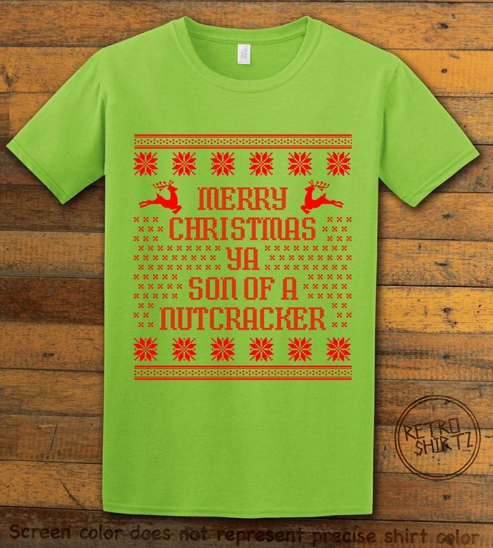 Son Of A Nutcracker! Graphic T-Shirt - lime shirt design
