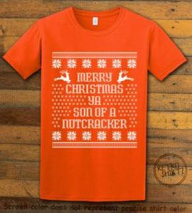 Son Of A Nutcracker! Graphic T-Shirt - orange shirt design