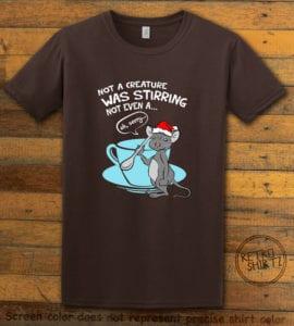 Stirring Mouse Graphic T-Shirt - brown shirt design