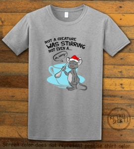 Stirring Mouse Graphic T-Shirt - grey shirt design