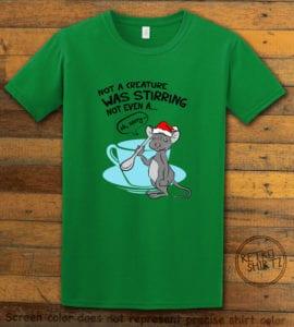 Stirring Mouse Graphic T-Shirt - green shirt design