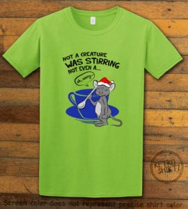 Stirring Mouse Graphic T-Shirt - lime shirt design