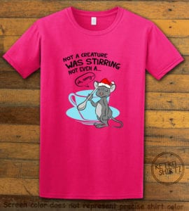 Stirring Mouse Graphic T-Shirt - pink shirt design