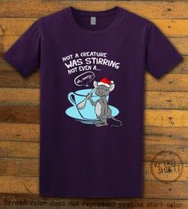 Stirring Mouse Graphic T-Shirt - purple shirt design