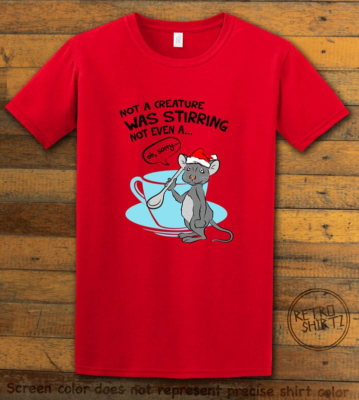 Stirring Mouse Graphic T-Shirt - red shirt design