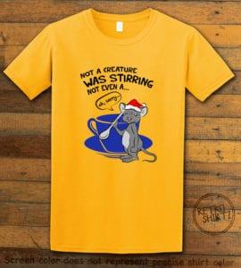 Stirring Mouse Graphic T-Shirt - yellow shirt design