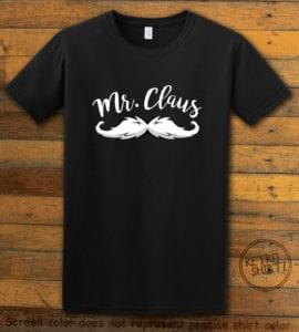 Mr. Claus Graphic T-Shirt - black shirt design