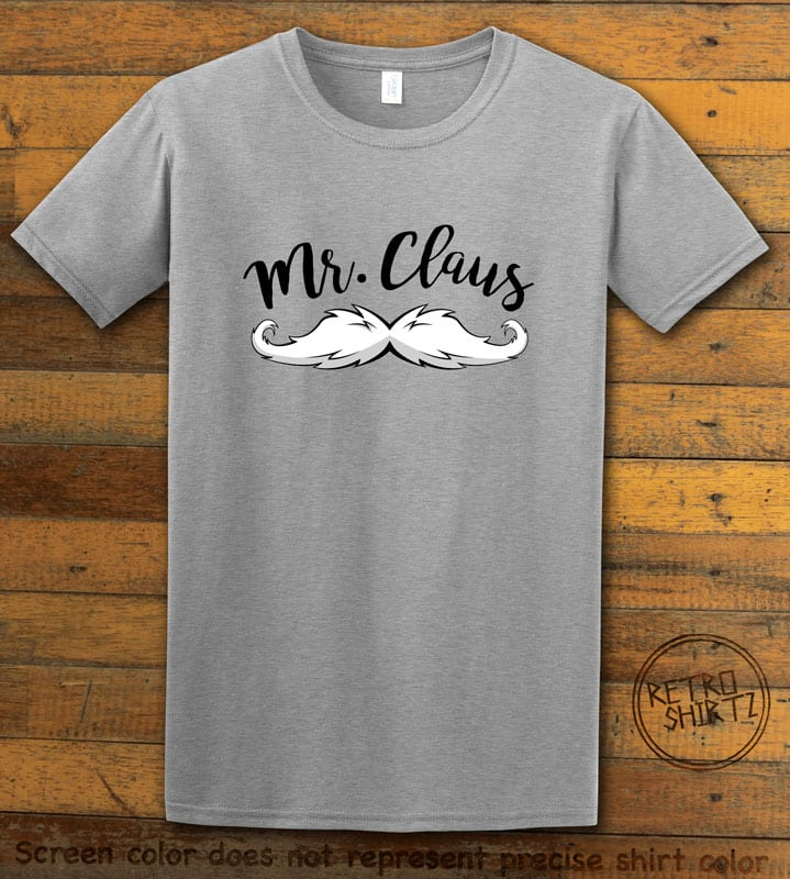 Mr. Claus Graphic T-Shirt - grey shirt design