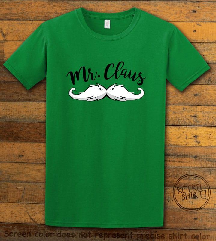 Mr. Claus Graphic T-Shirt - green shirt design