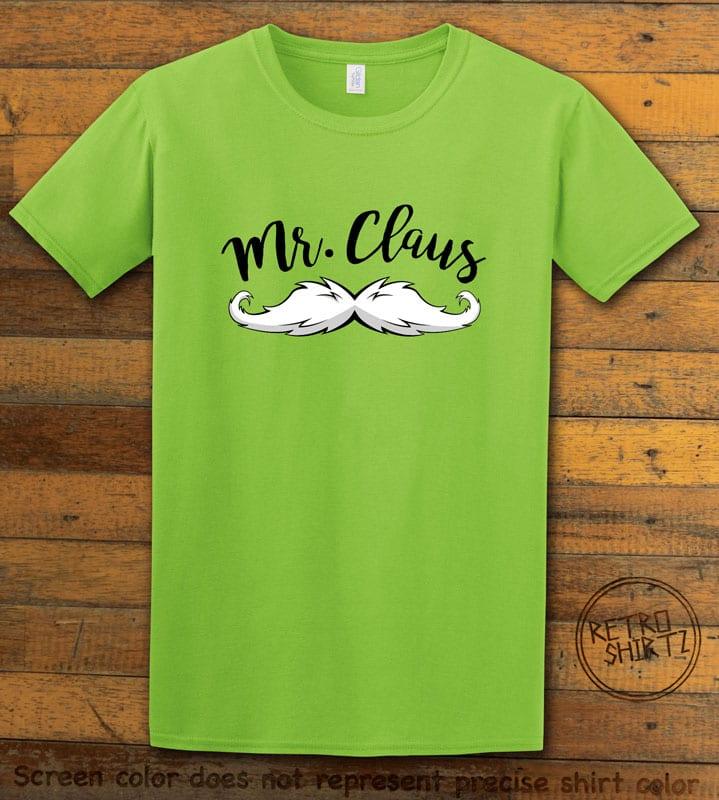 Mr. Claus Graphic T-Shirt - lime shirt design