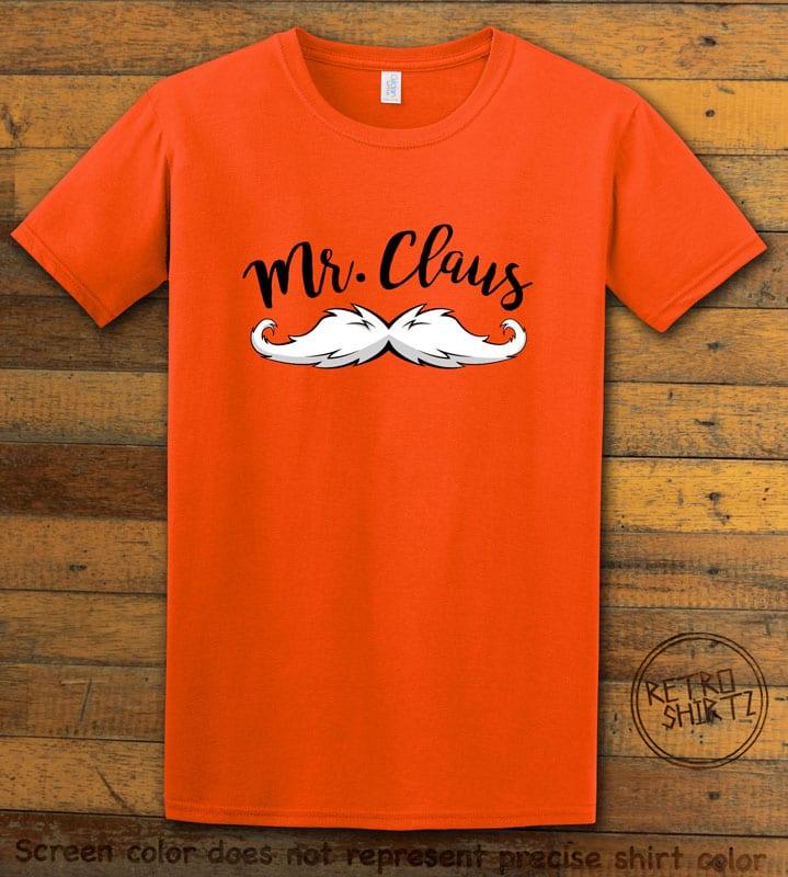 Mr. Claus Graphic T-Shirt - orange shirt design